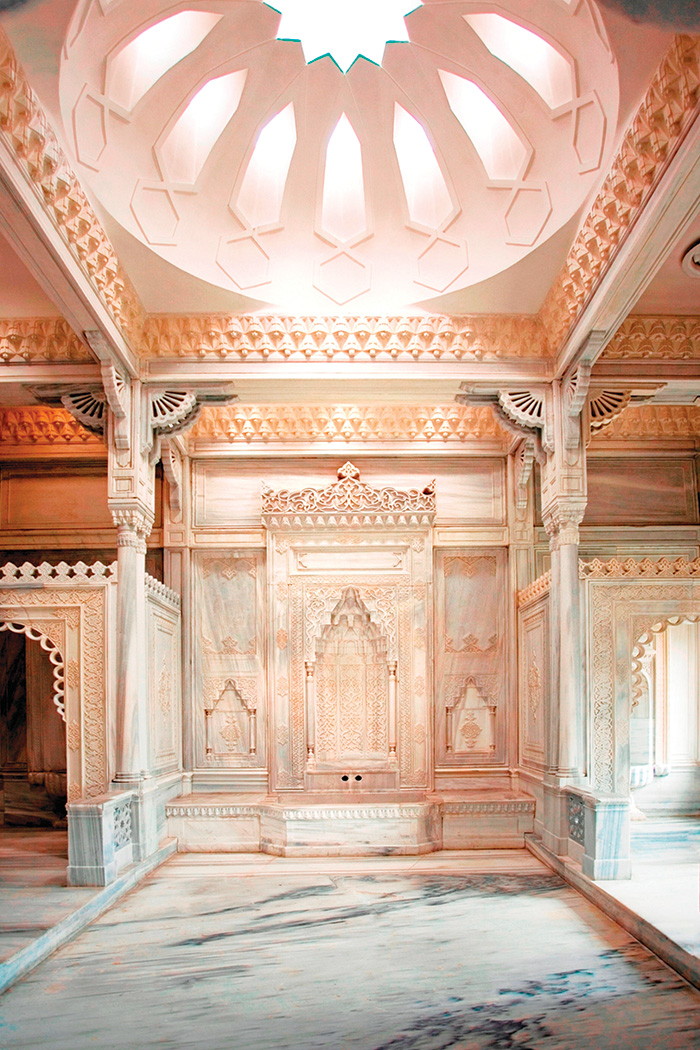 Still occasionally used, the historical Turkish hammam at the Ciragan Palace Kempinski can be booked privately for bridal showers and special events.