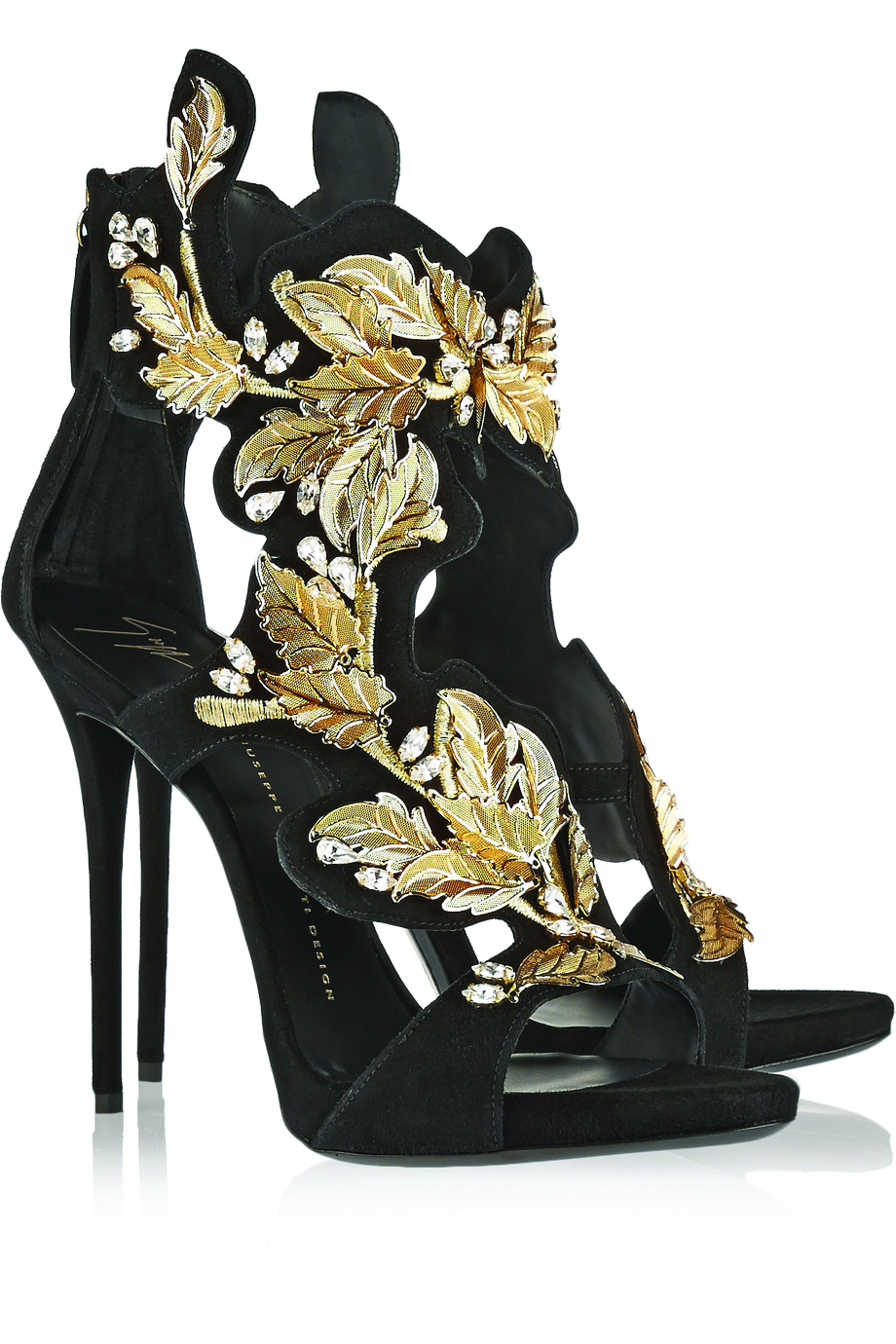 Giuseppe Zanotti Open Toe Platform Sandals. $2,954.80 Lush tendrils of golden vines appear to climb up these open toe sandals. Let this footwear take centre stage and pair with a simple, sleek black dress. At Bloomingdales.com