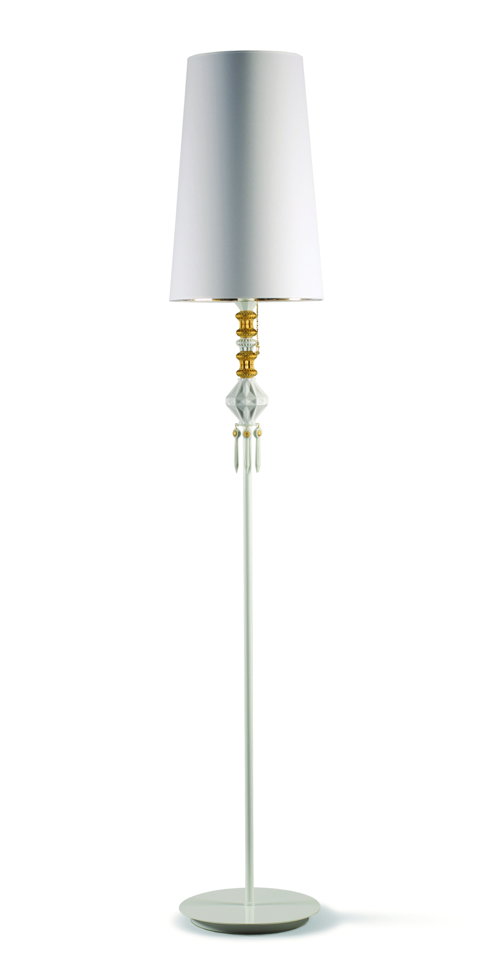 Lladró Floor Lamp $2,045 A necklace was no doubt the inspiration for this witty floor lamp that features a string of gold and white porcelain baubles. At lladro.com