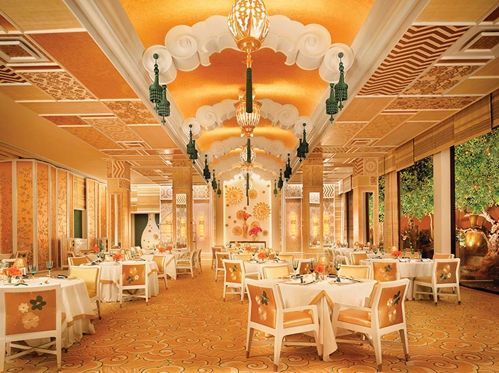 The Michelin-starred Wing Lei restaurant at the Wynn is alive with whimsy and light-hearted Chinese motifs.
