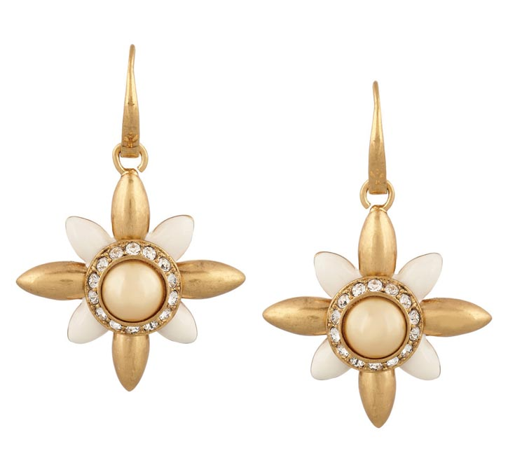 Tory Burch Flower Earrings ,  US$125 At ToryBurch.com