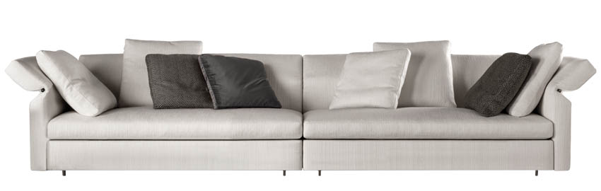 Minotti Collar Sofa, starting at $14,999 Uber-comfortable and modern, this versatile sofa system transforms the moment you desire it to. Available in a variety of fabrics and configurations. At Livingspace, 877 683 1116 livingspace.com