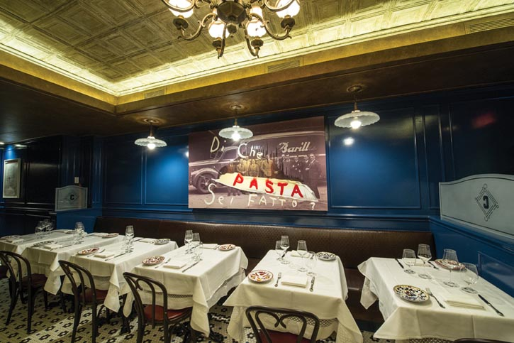 Mazzocchi's stomping grounds in New York City: Italian eatery Carbone.