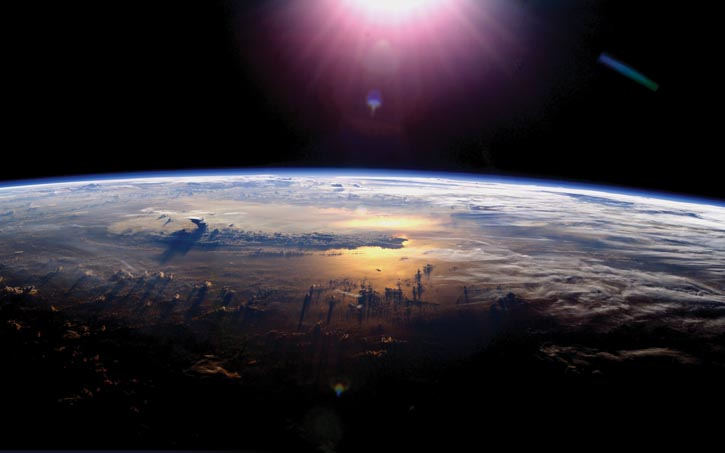 The Earth's horizon seen from space.
