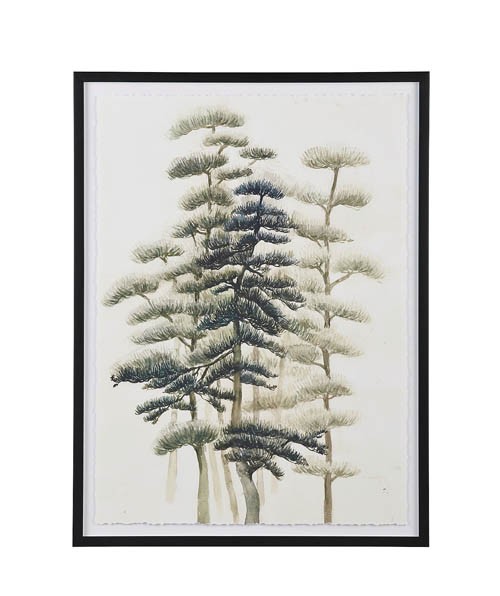 Crate & Barrel Into the Wild Print, $450 Embrace nature with this giclée print of stately trees and detailed needles on each branch — a balance between abstract and realistic art. crateandbarrel.com, 604 269 4300