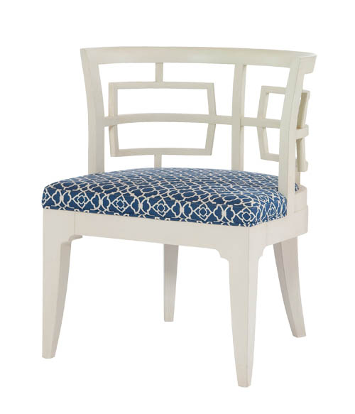 Century Furniture Mia Chair 弧形鏤空靠背椅, $1,549 paramountfurniture.ca,, 604 273 0155