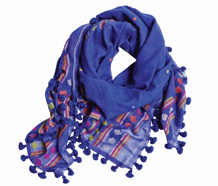 Fine finds from this year's H Project titled Uncrate India. Aish scarf($240)