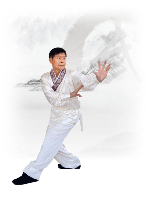 "Li Youfu demonstrating the martial art of ""Bagua Palm"""