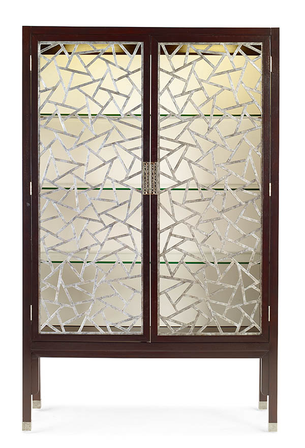 .Century Furniture Tracery Cabinet, $8,599 Show off treasured collectibles behind the dramatic grille of this striking glass cabinet. At Paramount Furniture, (604) 273-0155 paramountfurniture.ca