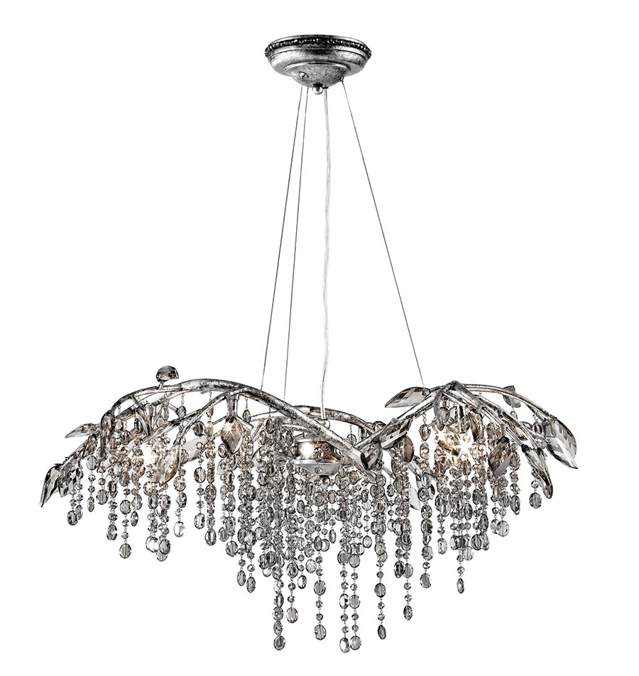 Golden Lighting Autumn Twilight Six Light Chandelier, $2,550 Turn a dining space into a winter wonderland with a chandelier emblazoned with icicle-shaped crystals dripping from arms sculpted like tree branches. At The Lighting Warehouse, (604) 270- 3339 thelightingwarehouse.com
