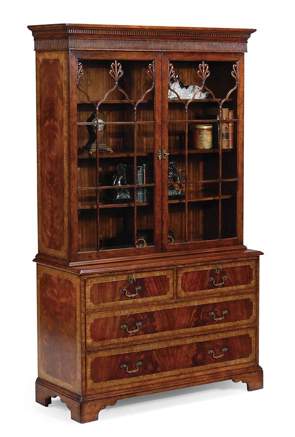 Barrymore Library Cabinet, $13,720 The unmatched wood grain of this mahogany breakfront conveys a classic, rich effect.  At Jordans Interiors, (604) 733-1174, jordans.ca