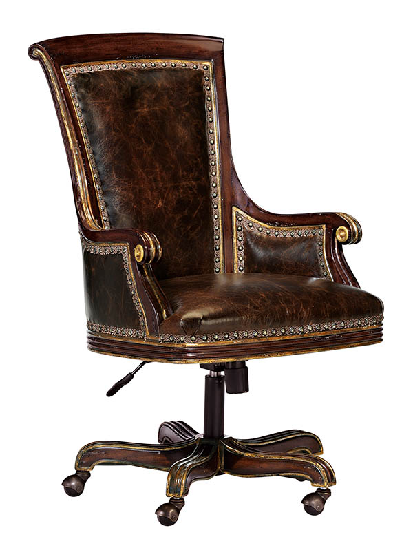 Marge Carson Martinique Desk Chair  Starting at $3,995 Set on practical casters, this leather chair is a stately addition to the home office. At Paramount Furniture, (604) 273-0155, paramountfurniture.ca