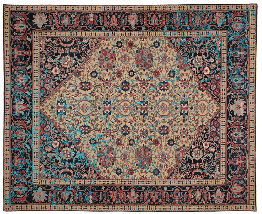 Jan Kath Erased Heritage Collection 8' x 10' Rug, $20,000 There is no better mix than wool and silk in a classically-patterned carpet. The silk adds lustre. The wool is warm and durable. At Jan Kath, (604) 254-5284, jan-kath.com