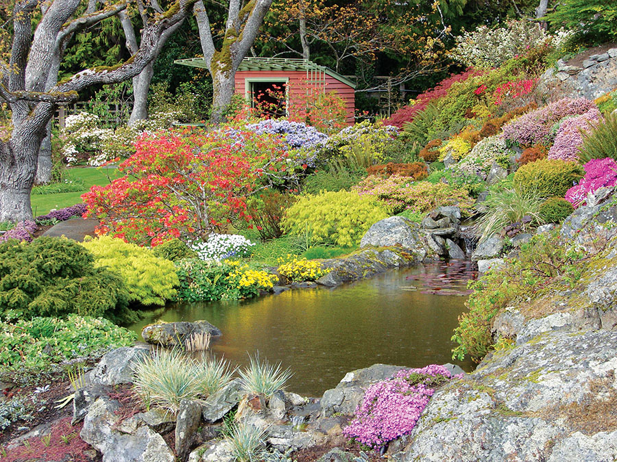 Prince and Princess Nicholas Abkhazi created the exquisite Abkhazi Garden in the late 1940s.