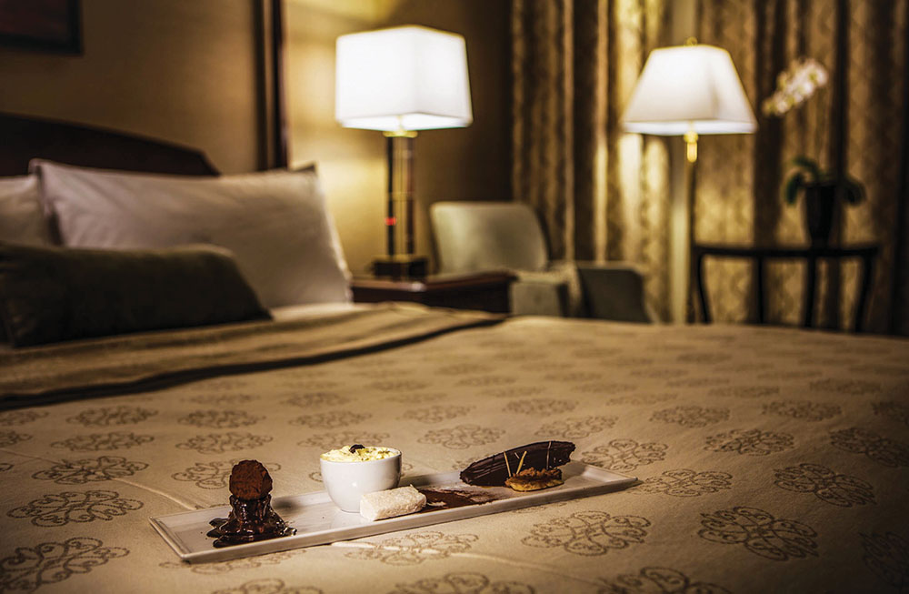 Recently renovated rooms sparkle anew at the European-style Magnolia Hotel.