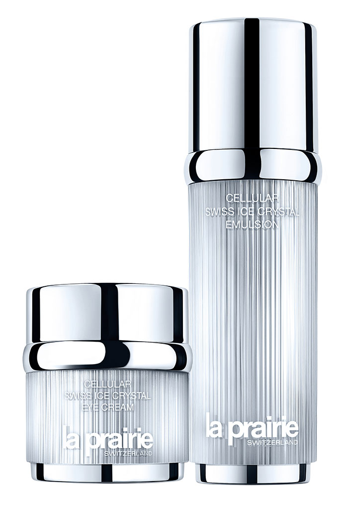 La Prairie Cellular Swiss Ice Crystal Eye Cream $270/20ml La Prairie Cellular Swiss Ice Crystal Emulsion  $365/50ml