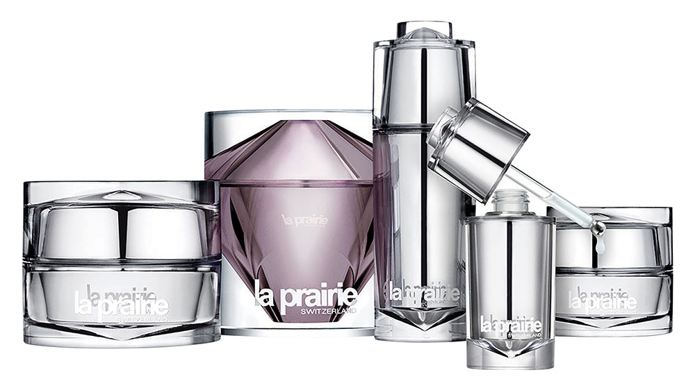 La Prairie Cellular Serum Platinum Rare $837/30ml La Prairie Cellular Cream Platinum Rare $1,260/50ml La Prairie Cellular Eye Cream Platinum Rare $426/20ml La Prairie Cellular Eye Essence Platinum Rare $426/15ml