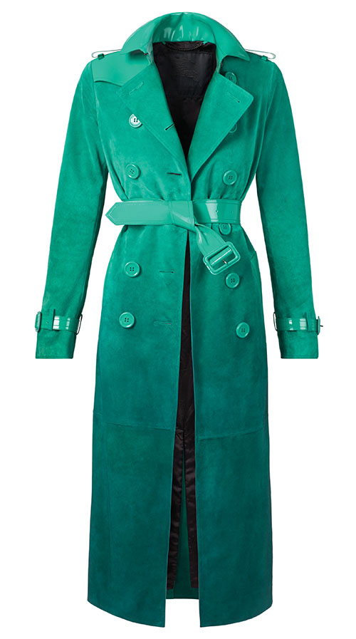 Burberry Suede Trench $6,500