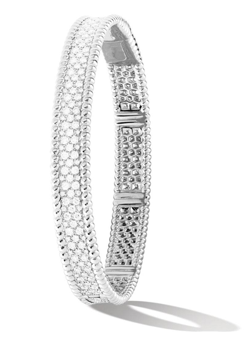 Van Cleef & Arpels Perlée Diamond Bracelet$47,500