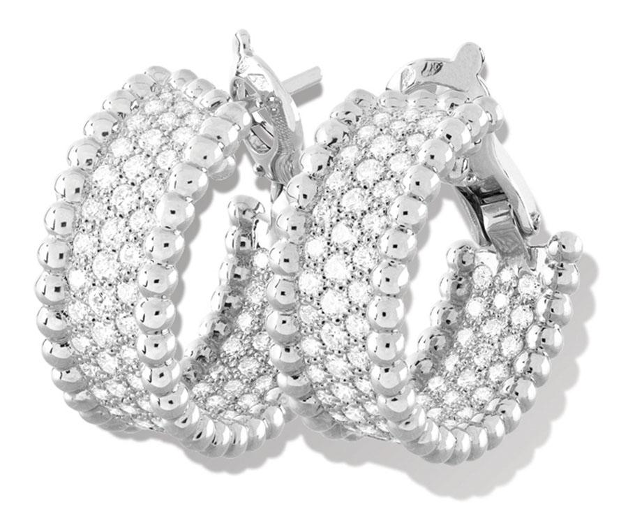 Van Cleef & Arpels Perlée Diamond Earrings$24,600