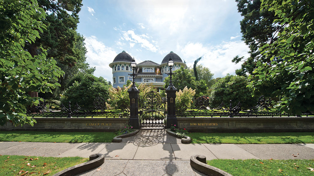 Glen Brae, an iconic property on Matthews Ave and one of Shaughnessy's largest mansions. Early 20th-century wrought iron imported from Scotland.
