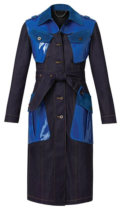 BurberryDenim Trench Coat, $3,995