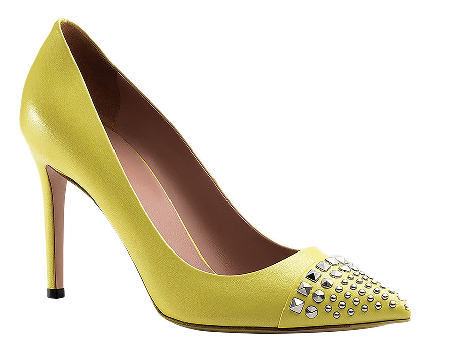 Gucci Studded Leather Pump, $680