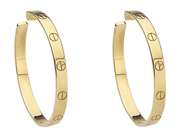 Cartier Love Earrings, $4,000