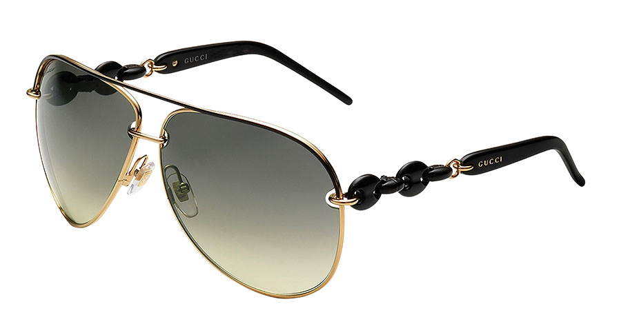 Gucci Gold Aviator Sunglasses, $455