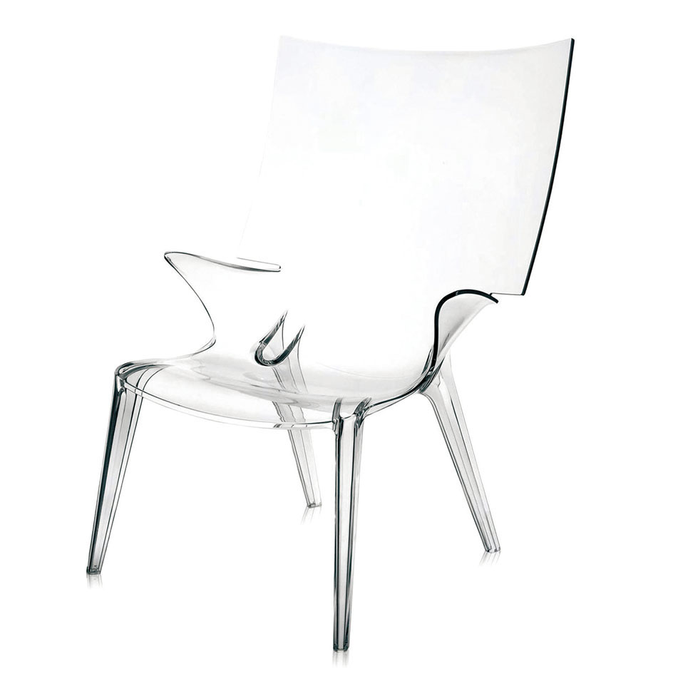 Kartell Uncle Jim Armchair  Price Upon Request Need an element of space-age glam? A clear choice is this practically invisible chair that buoys you up without adding any visual weight. At Livingspace, (877) 683-1116 livingspace.com