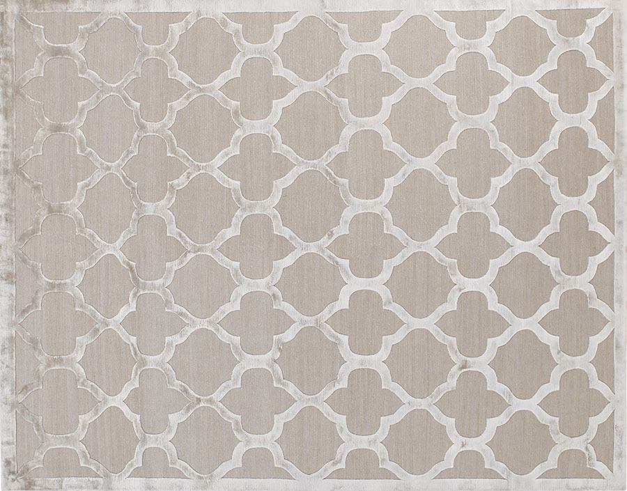 Salari Gothic Silver Rug, $11,600 Moroccan style motifs are an enduring, classic way to ground an elegant room, and the lustrous silk-wool blend feels soft underfoot. At Salari, (604) 261-3555 salari.com