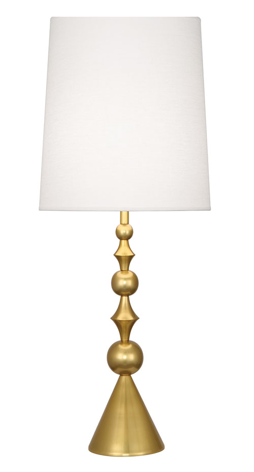 Mint Table Lamp P-8022 Brass $709 Add a touch of brilliance to a sanctuary with a diamond and ball candlestick lamp.The graceful shape has a mid-century look. At Mint Interiors, (604) 568-3430 shop.mintinteriors.ca