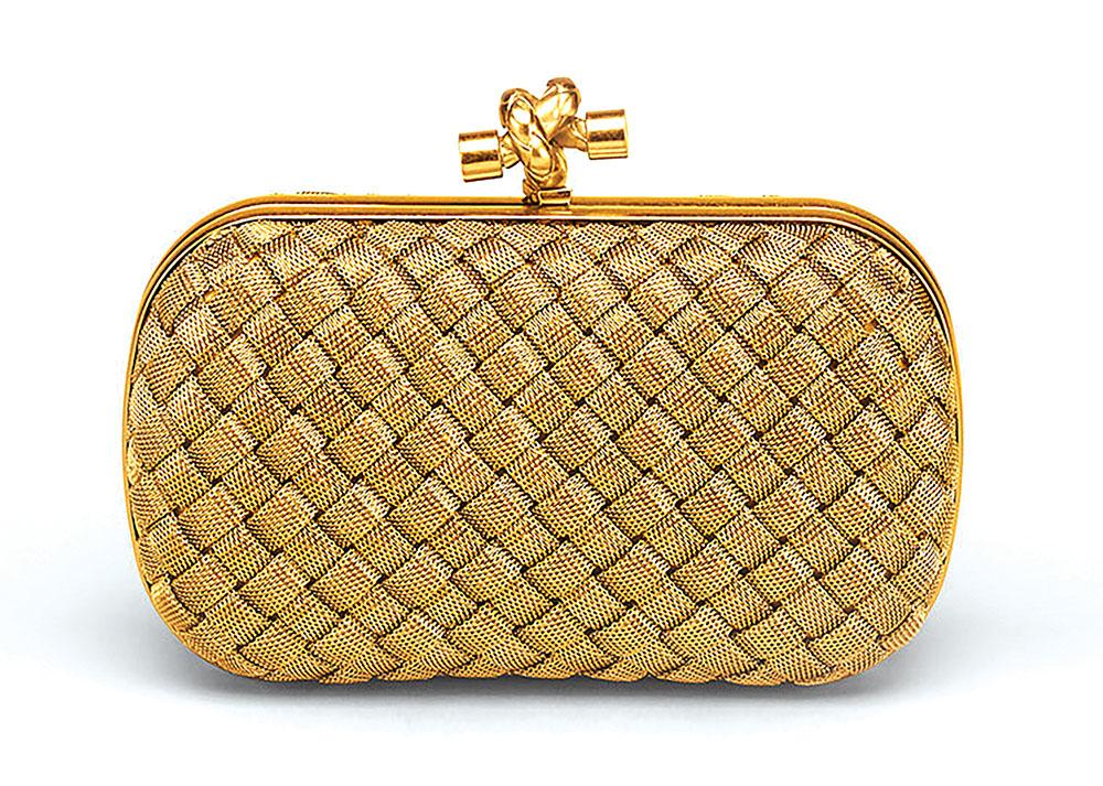 Bottega Veneta Intreccio Knot Clutch handbag