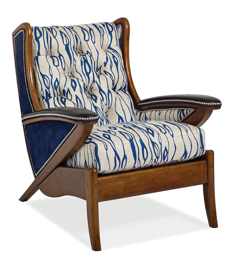 Hancock and Moore Boomerang Tufted Chair
