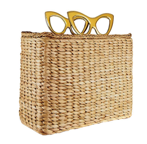 Charlotte Olympia Sunny Basket leather-trimmed raffia tote,  $995 net-a-porter.com