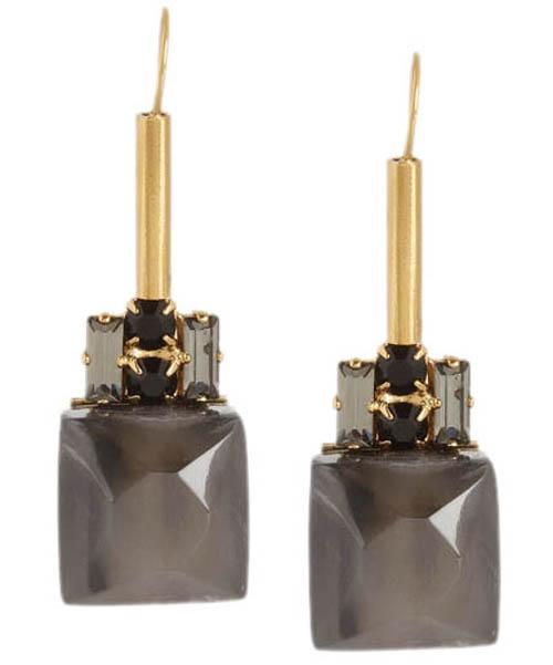 Marni Gold-tone, crystal and horn earrings marni.com