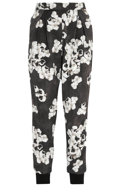 Giambattista Valli Cropped floral-print cotton-blend tapered pants,  $1,185   net-a-porter.com