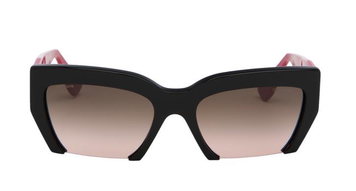 Miu Miu razor cut sunglasses,  $420   At  Holt Renfrew