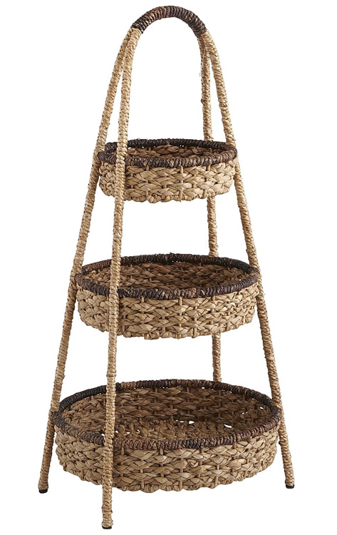 Pier 1 Imports Vista 3-Tier Basket, $59.95 Unique and rugged, tiered seagrass baskets with abaca trim have rustic appeal. At Pier 1 Imports, 604 742 2340 pier1.com