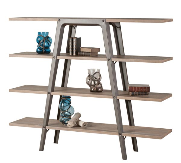 Roche Bobois Fusion Bookcase Shelf, Price Upon Request Ladder-stacked bookcase shelf uses a solid metal frame to support four wooden planks, guiding the eye higher and higher. At Roche Bobois, 604 633 5005 roche-bobois.com