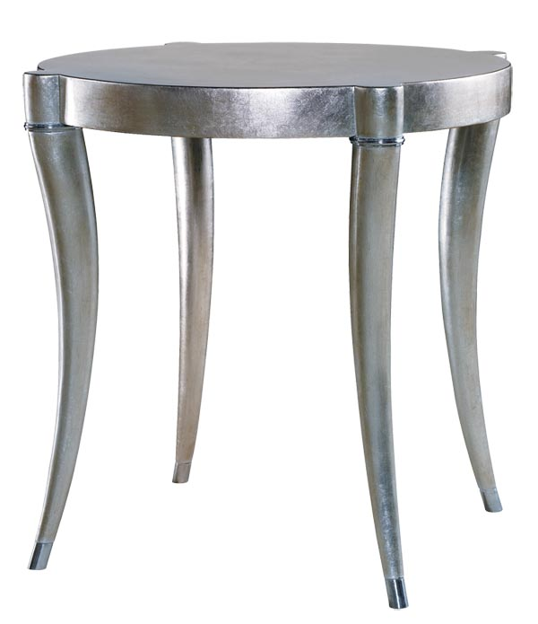 Barrymore Jewel End Table, $1,664 Even in eye-catching silver, this simply-elegant end table still blends effortlessly into any setting. At Jordans Interiors, 604 733 1174 jordans.ca