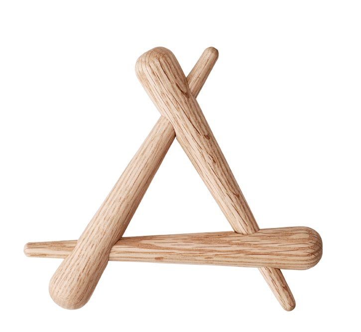 Timber Trivet Oak, $33 At espace d.,  espacedonline.com , 604 662 3008