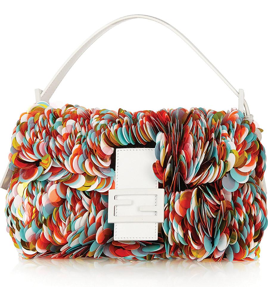 Fendi Baguette Paillettes Bag