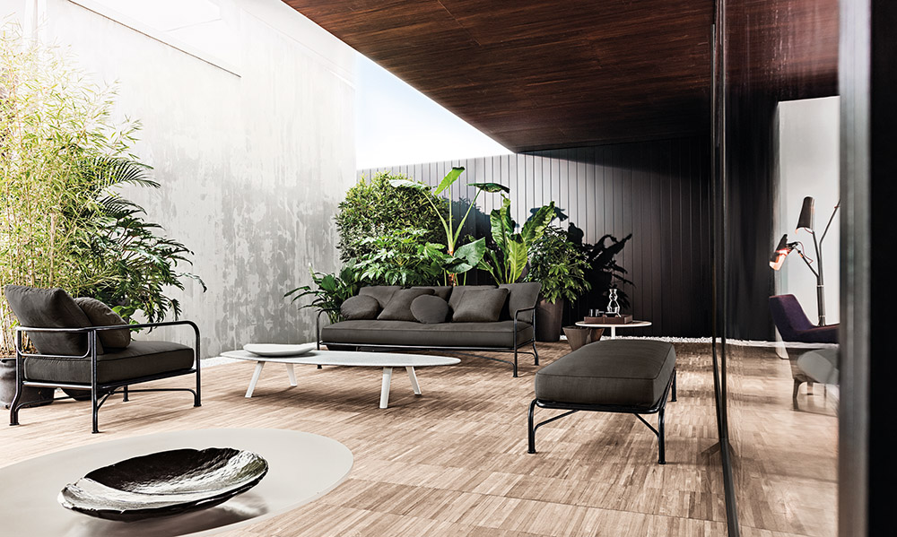 Minotti Le Parc Outdoor Sofa, Starting at $9,159 At Livingspace, (877) 683-1116, livingspace.com