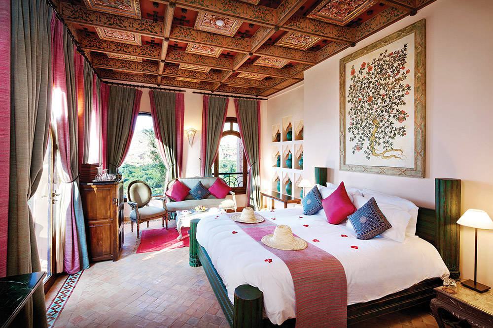 Expect to unwind at the Kasbah Tamadot, as rooms don't have televisions or other distractions.