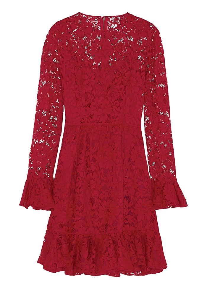 Dolce & Gabbana Ruffled Lace Dress   $4,500