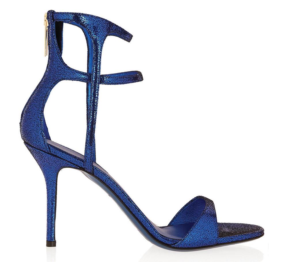 Tamara Mellon Metallic Suede Sandals   $1,376