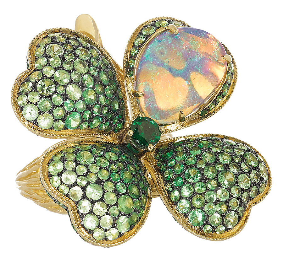 Lydia Courteille Four Leaf Clover Ring  Lydia Courteille US$23,790