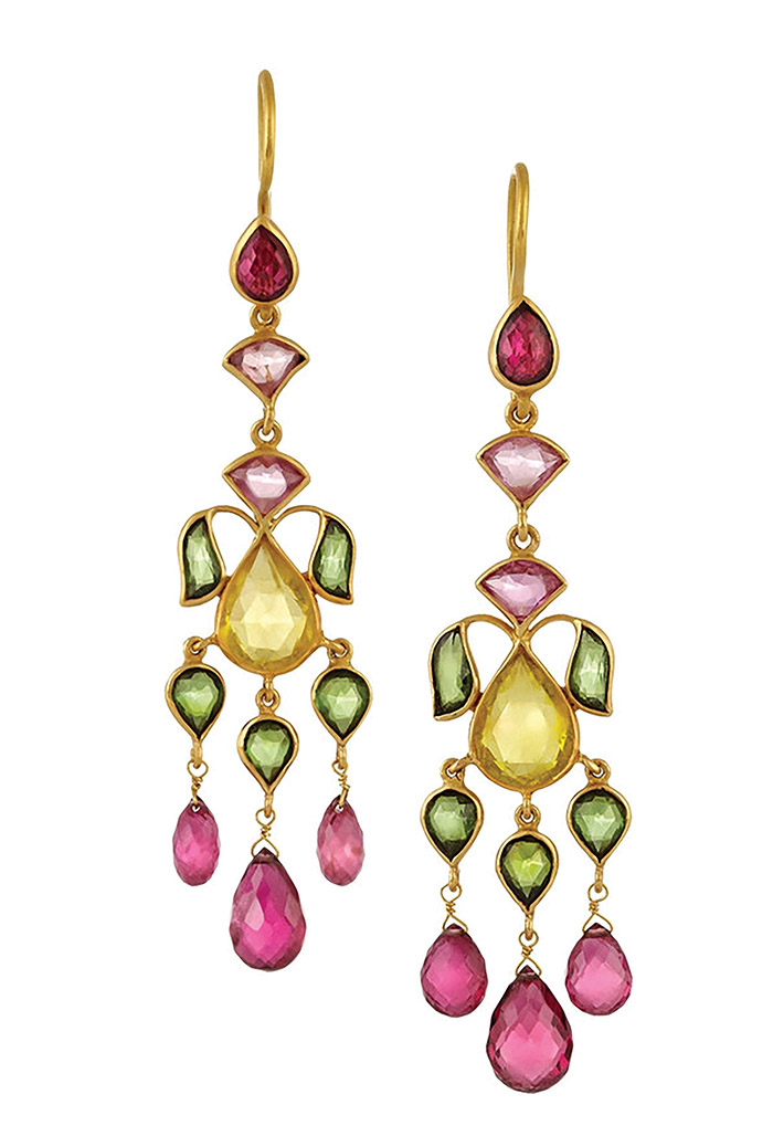 Munnu Gold Tourmaline Earrings     Munnu US$7,000