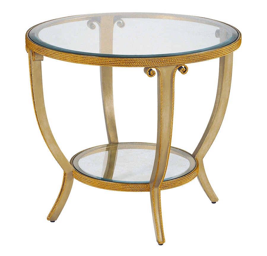 Marge Carson Oggetti Round Lamp Table